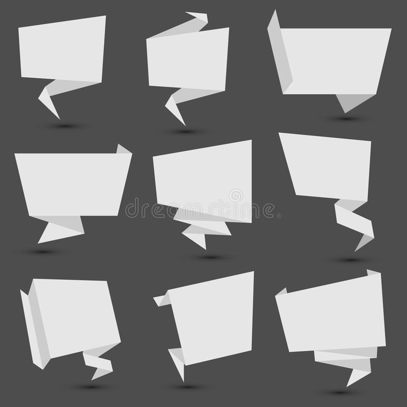 Origami Fahnen lizenzfreie abbildung