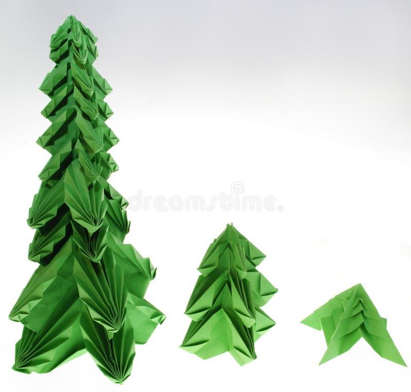 Origami fir tree royalty free stock photo
