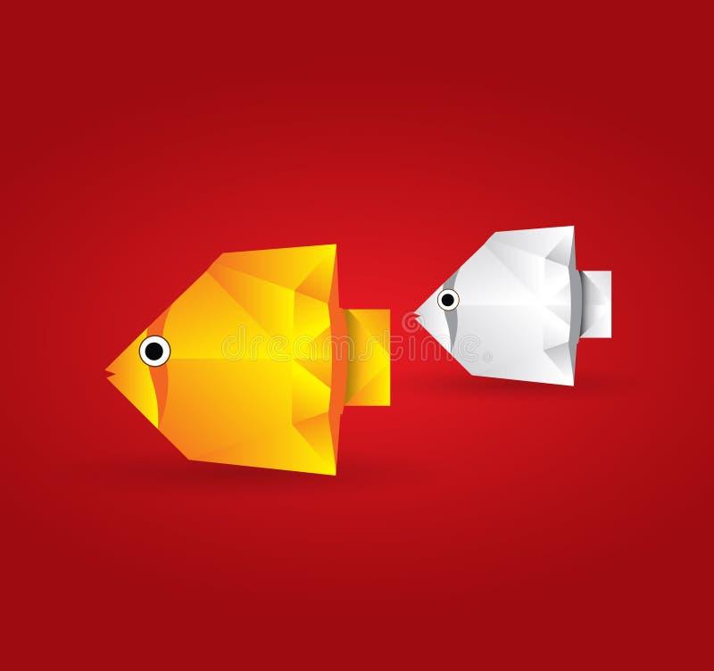 Origami Fish vector illustration