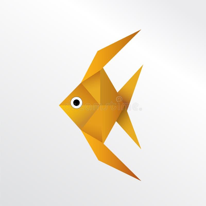 Origami fish stock illustration