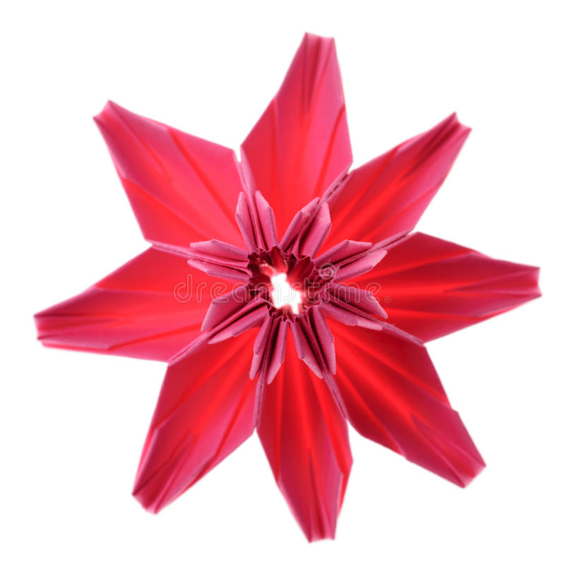 Origami flower royalty free stock photo