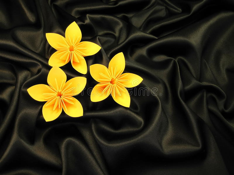 Origami flowers stock photography