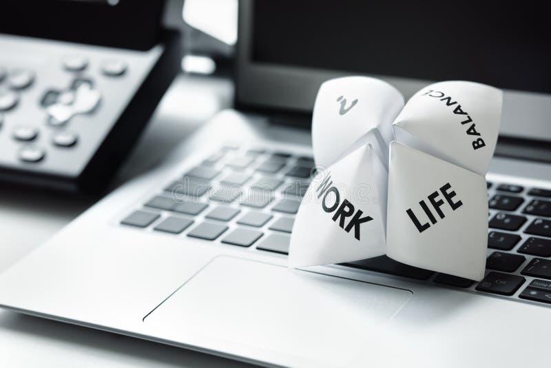 Work life balance choices stock photography