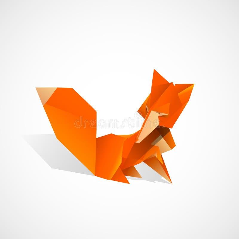Origami Fox stock illustration