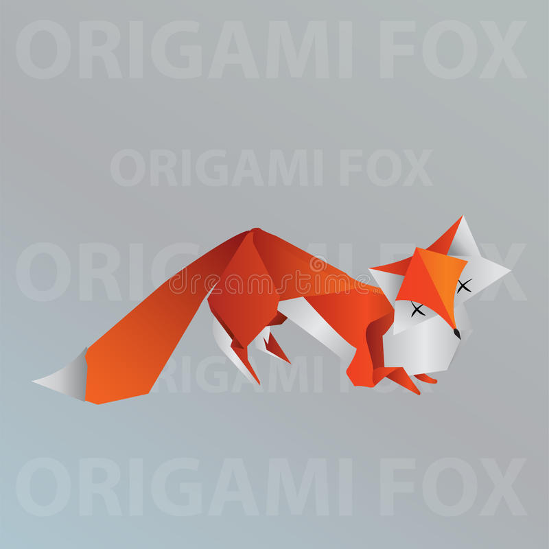 Download Origami Fox Stock Vector Illustration Of Drawing Foxy