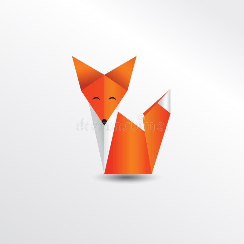 Origami fox. Illustration animal mascot stock illustration
