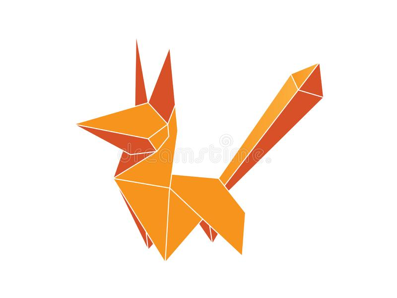 Origami Fox vector royalty free illustration