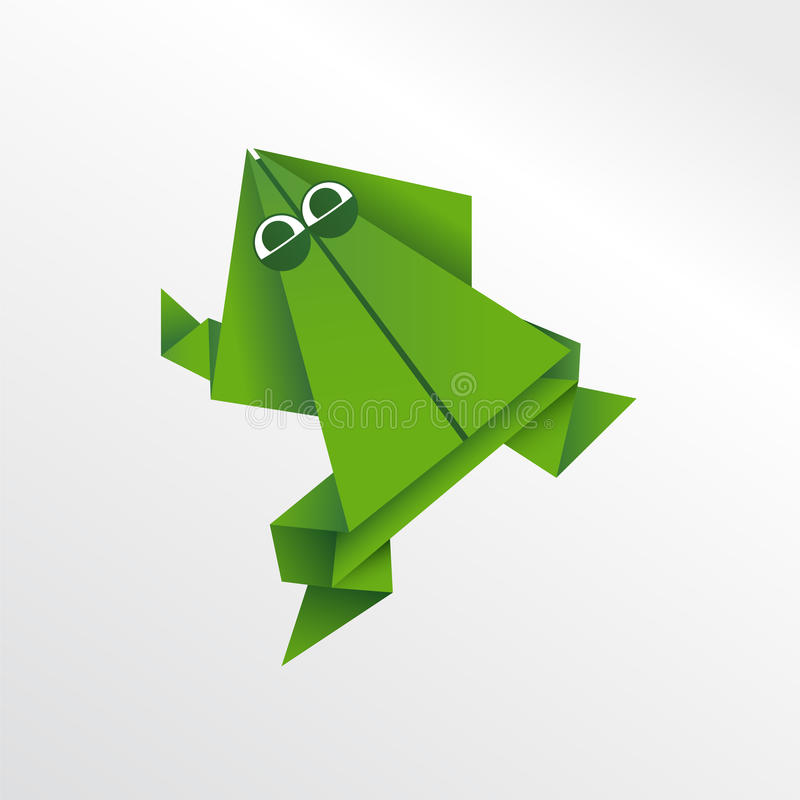 Origami frog royalty free illustration