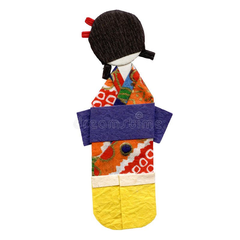 Origami geisha royalty free stock photo