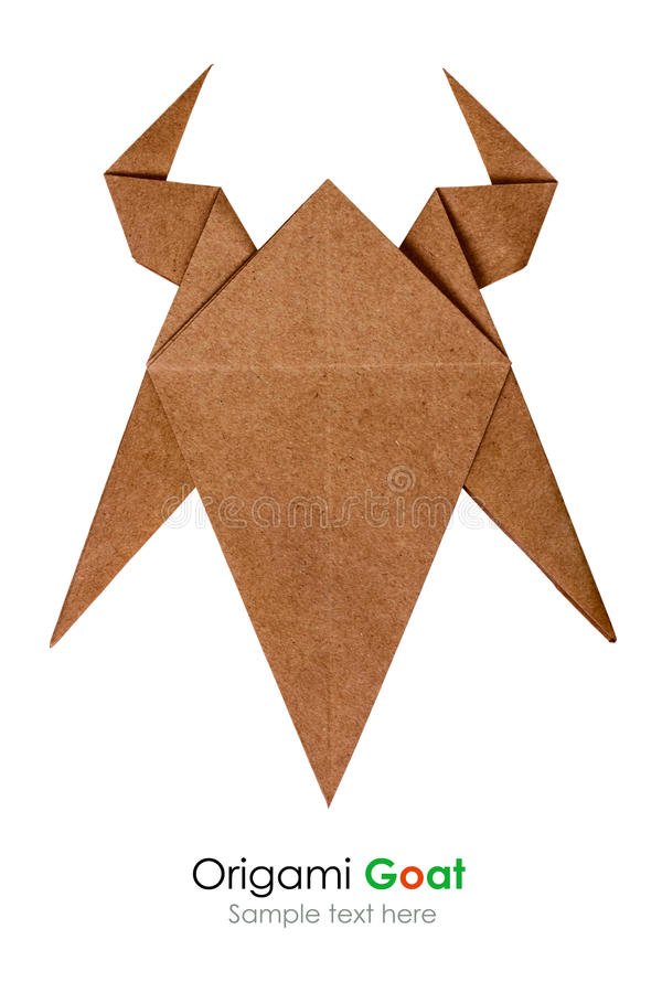 Origami goat head royalty free stock photography