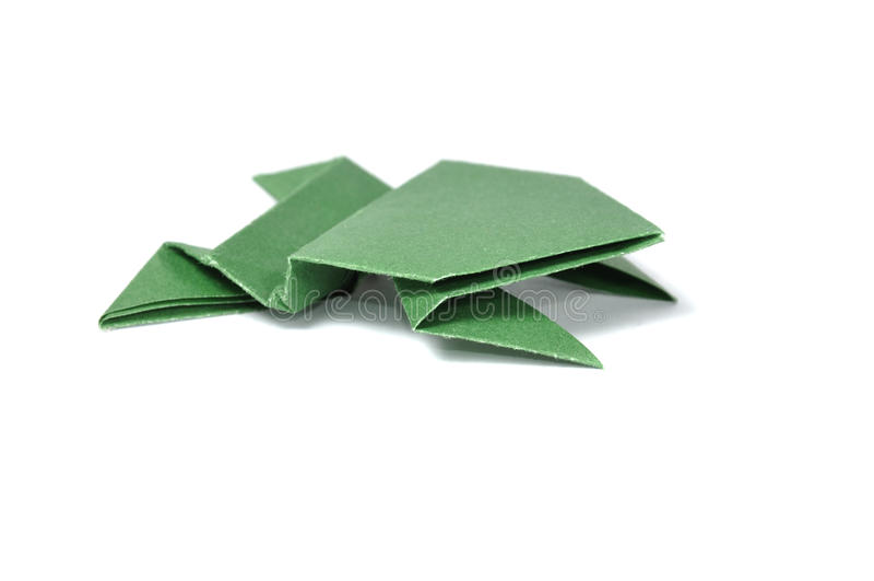Origami groda royaltyfri fotografi
