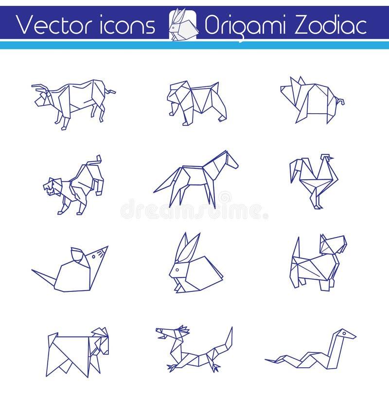 Origami horoskop ilustracja wektor