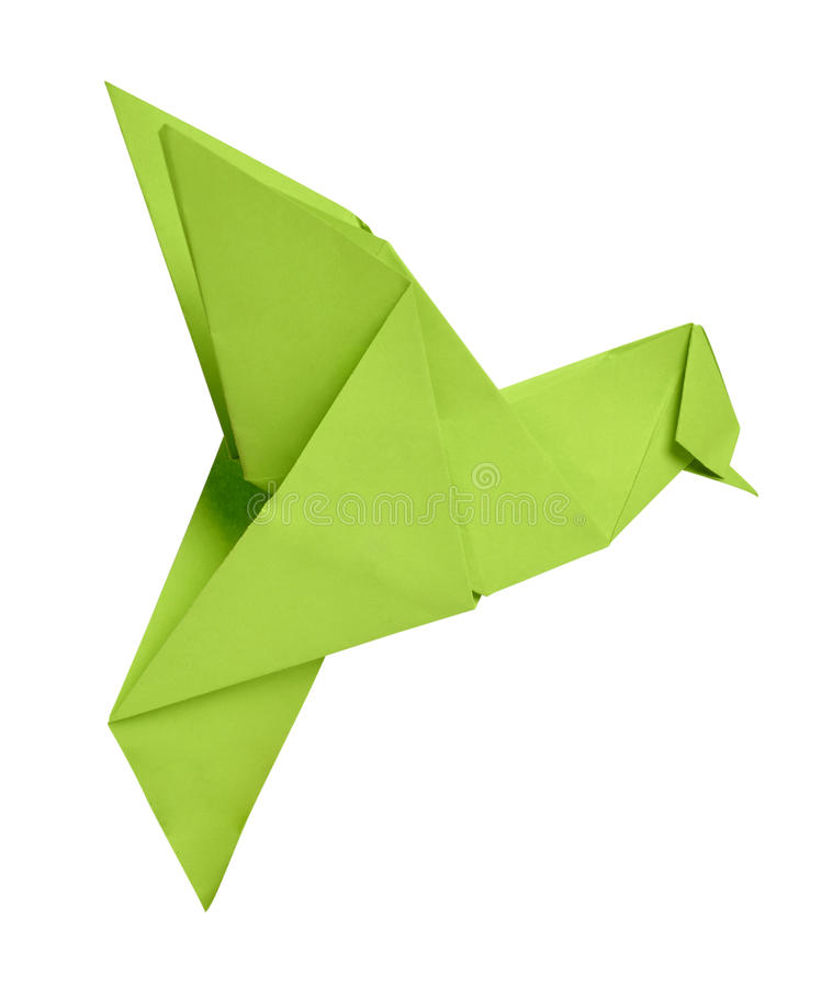 Origami Humming-bird Royalty Free Stock Images