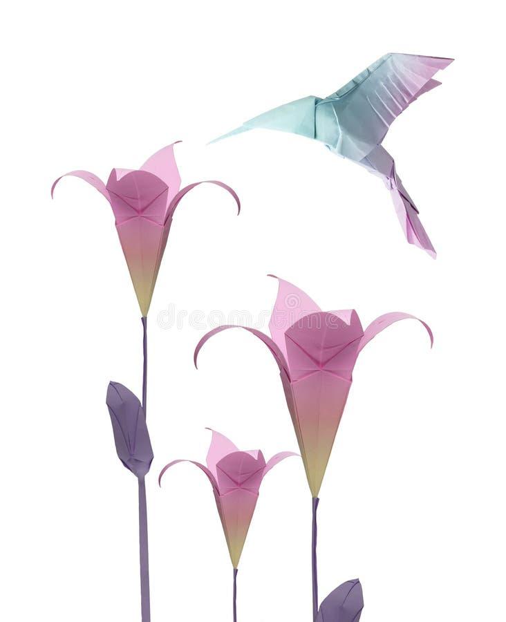 Origami hummingbird stock images