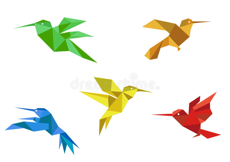 Download Origami Hummingbirds Set Royalty Free Stock Photos - Image: 28505888