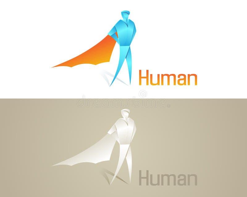 Origami Ikona Ludzka Ogólnospołeczna Zdjęcie Royalty Free
