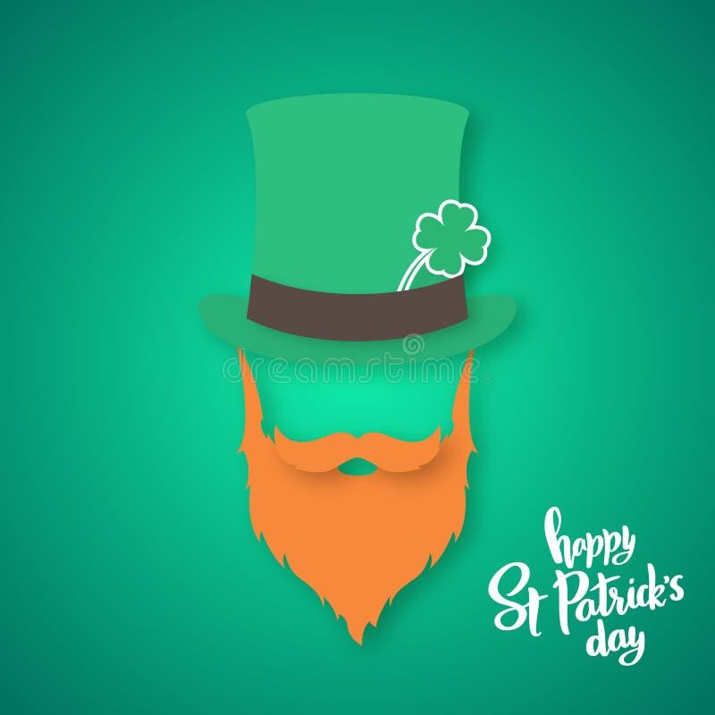Origami irlandczyk Świętego Patrick ` s dnia karta royalty ilustracja
