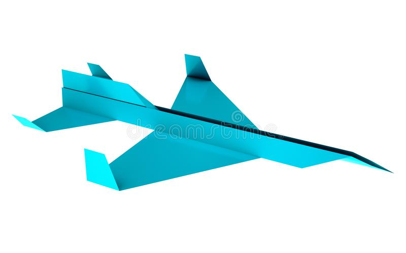 Origami Jet Model Illustration. High Resolution Origami Jet HD Model Eleven, Origami paper look 8000x5000px Isolated with white background and transparent vector illustration