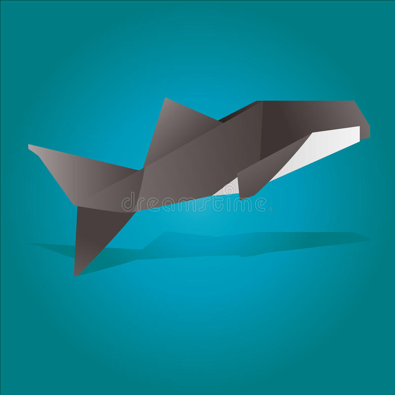 Download Origami Killer Whale Stock Vector Illustration Of Japan