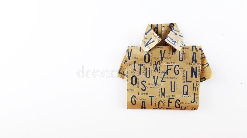 Origami koszula obraz royalty free