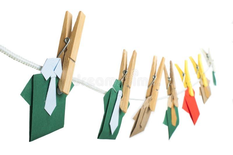 Origami koszula na arkanie ilustracja wektor