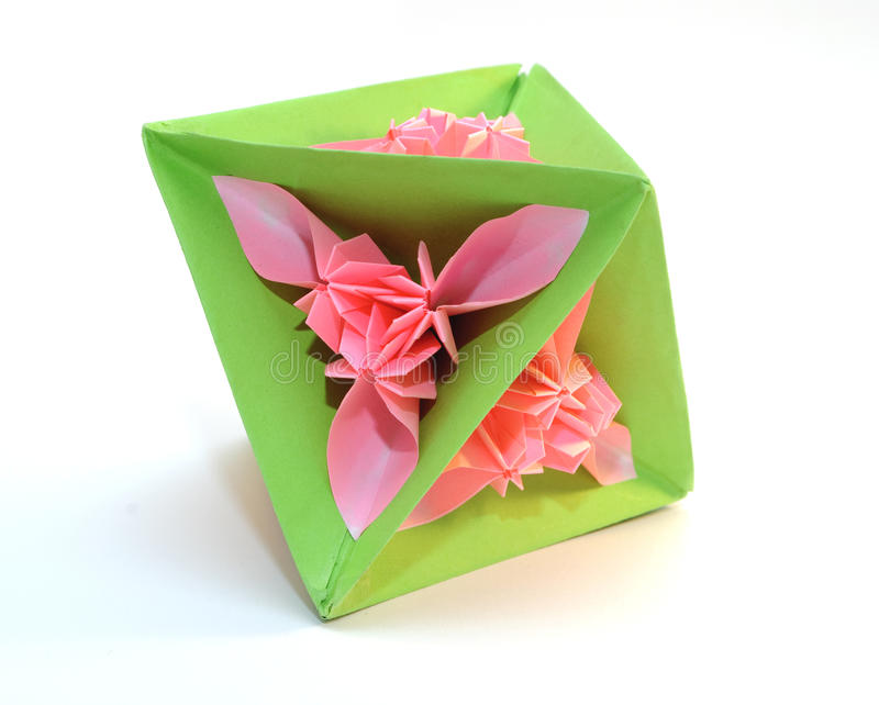 Origami kusudama royalty free stock image