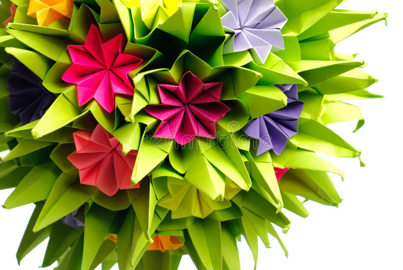 Download Origami kusudama flower stock photo. Image of paper, color - 15786110