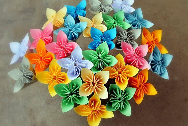 Origami kusudama kwiaty obrazy royalty free