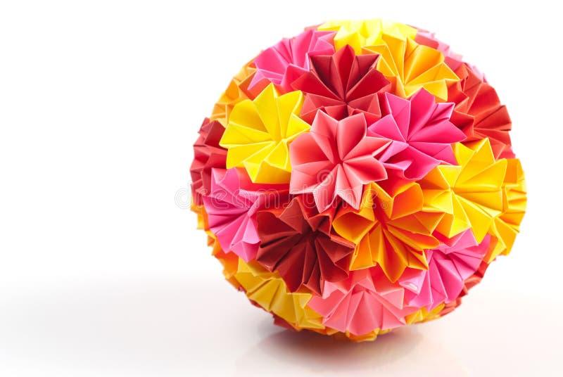 Origami kusudama rainbow royalty free stock photos