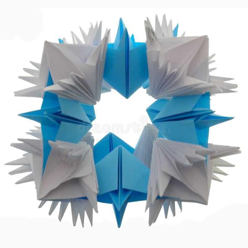 Origami kusudama snowflake stock photography