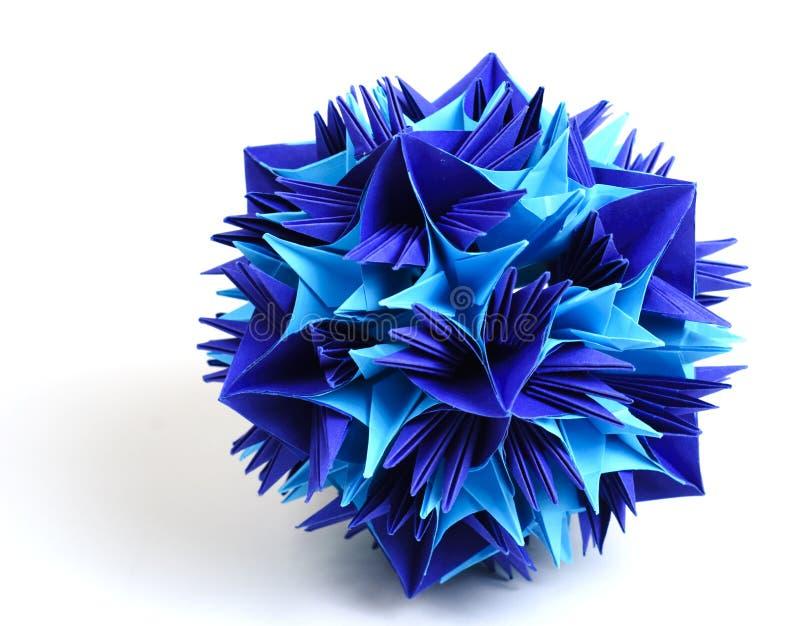 Origami kusudama snowflake royalty free stock photography