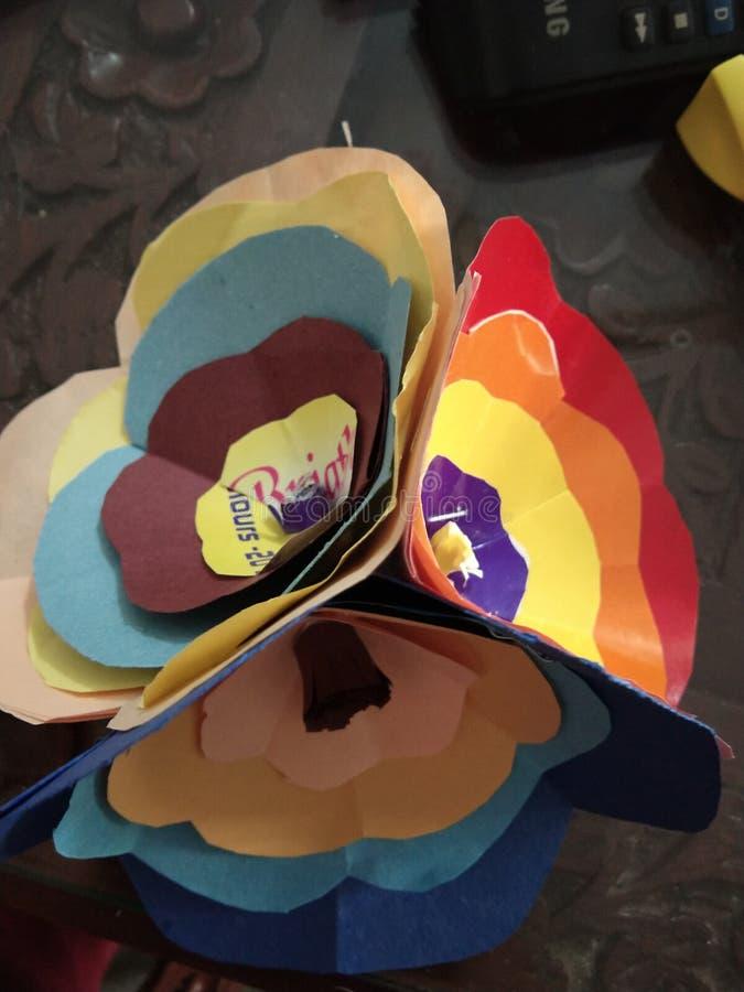Origami kwiat zdjęcie royalty free