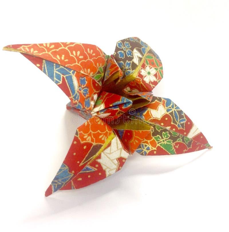 Origami kwiat obrazy stock