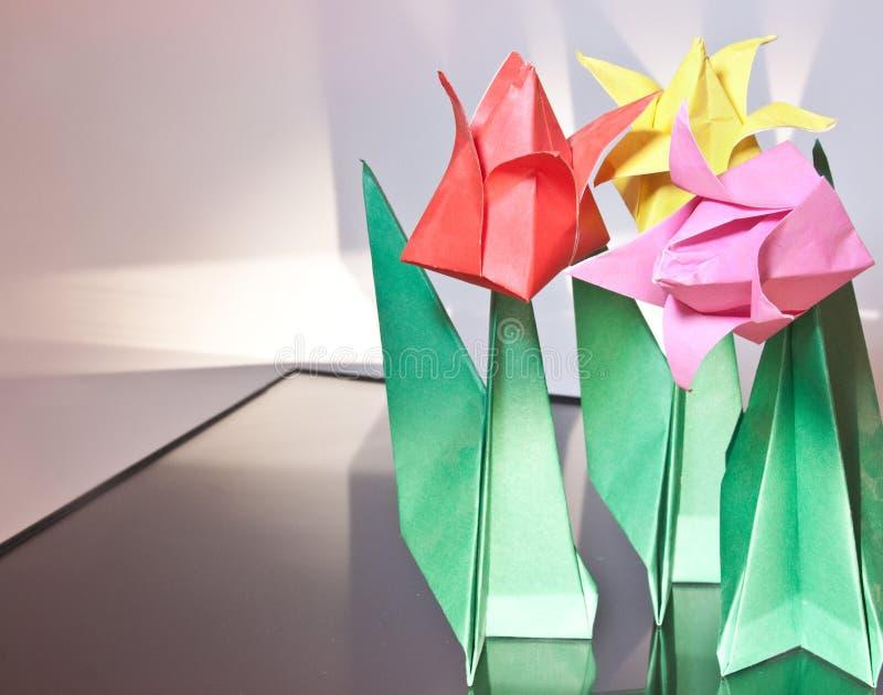 Origami Kwiaty fotografia stock