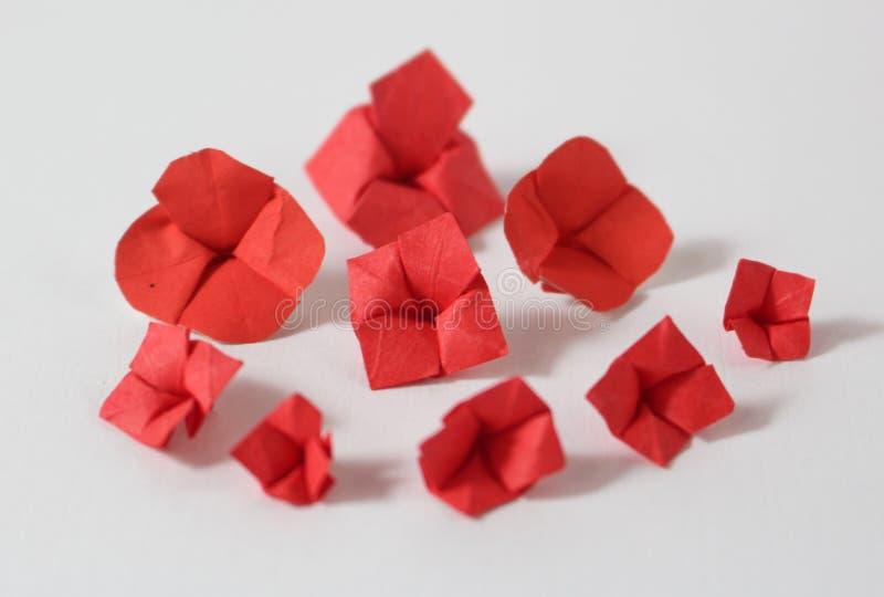 Origami kwiaty zdjęcie royalty free