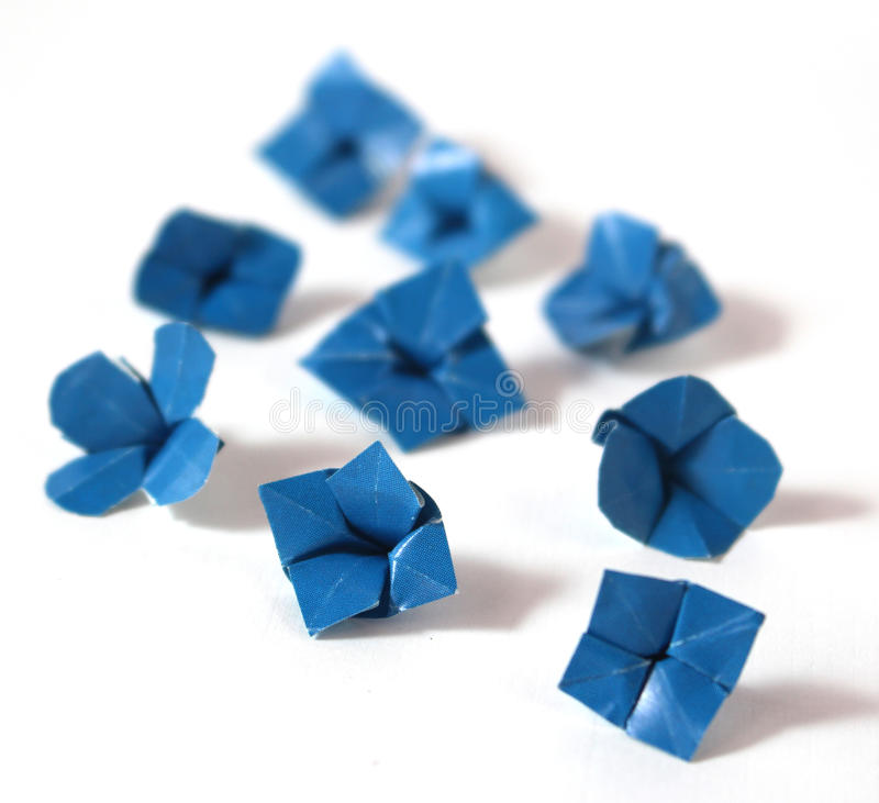 Origami kwiaty obrazy royalty free