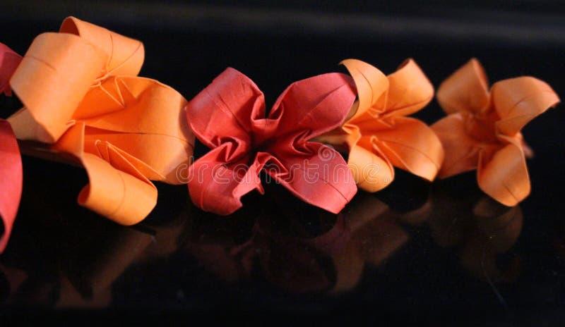 Origami kwiaty fotografia royalty free