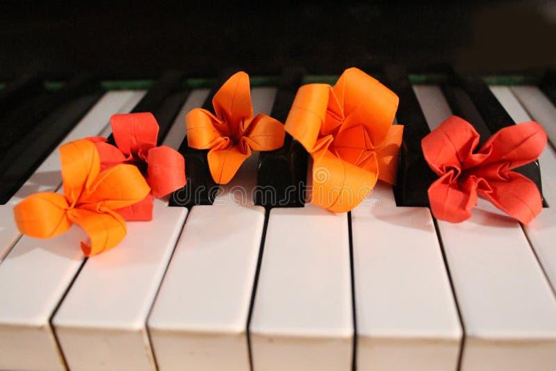 Origami kwiaty zdjęcie stock