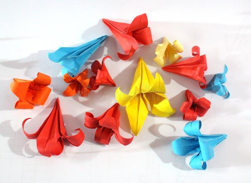 Origami kwiaty obrazy stock