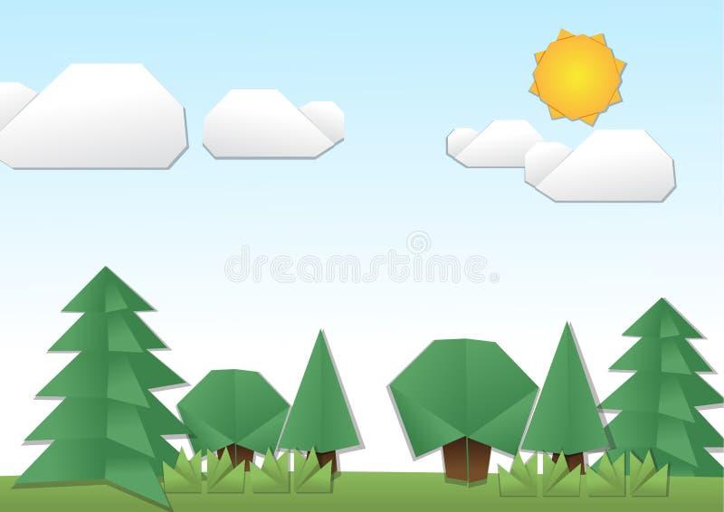 Origami Land royalty free illustration