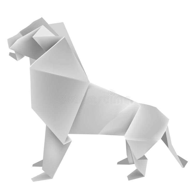 Origami_lion royalty free illustration