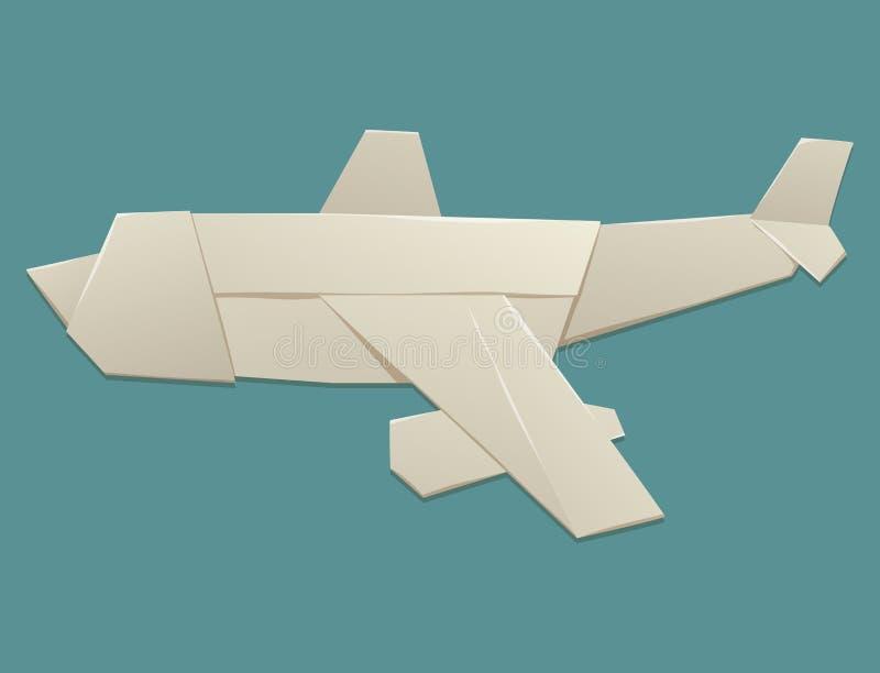 Origami logistische document het document van de het concepten originele vlakke reis van het vliegtuigvervoer de vrijheidsvector  vector illustratie