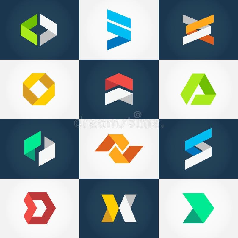 Origami Logo Collection illustration de vecteur