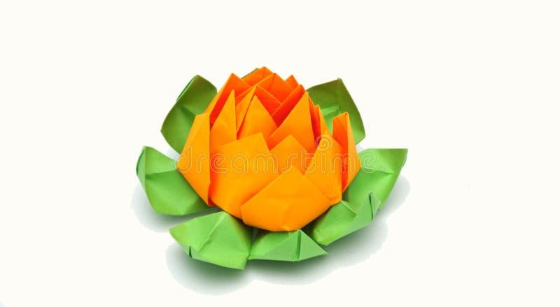 Origami lotusblomma royaltyfri bild