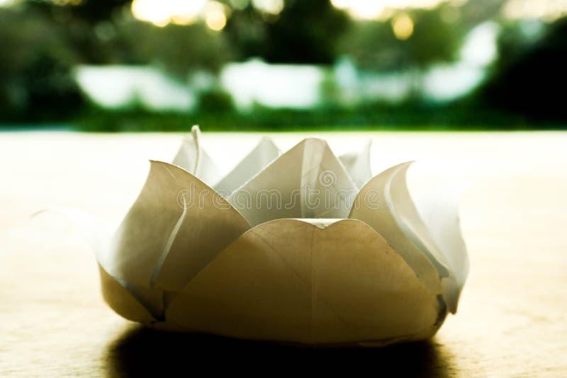 Origami lotusblomma royaltyfria bilder