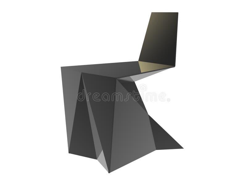 Origami Möbel origami möbel stock abbildung illustration stuhl 28654216