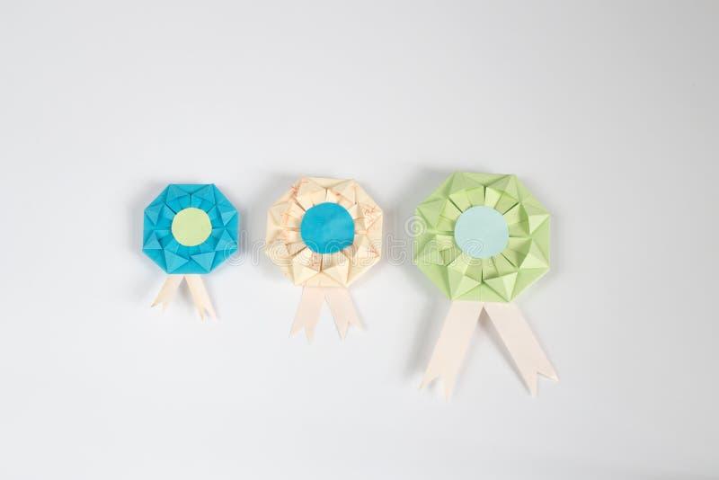 Origami Medal Stock Photo