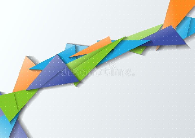 Origami most - nowożytna abstrakcja ilustracji