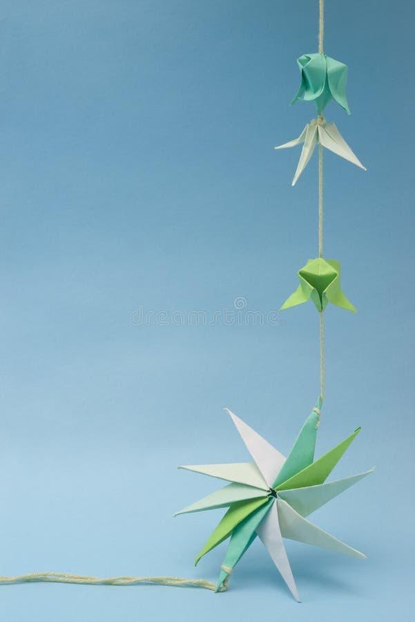 Origami op draad royalty-vrije stock afbeeldingen