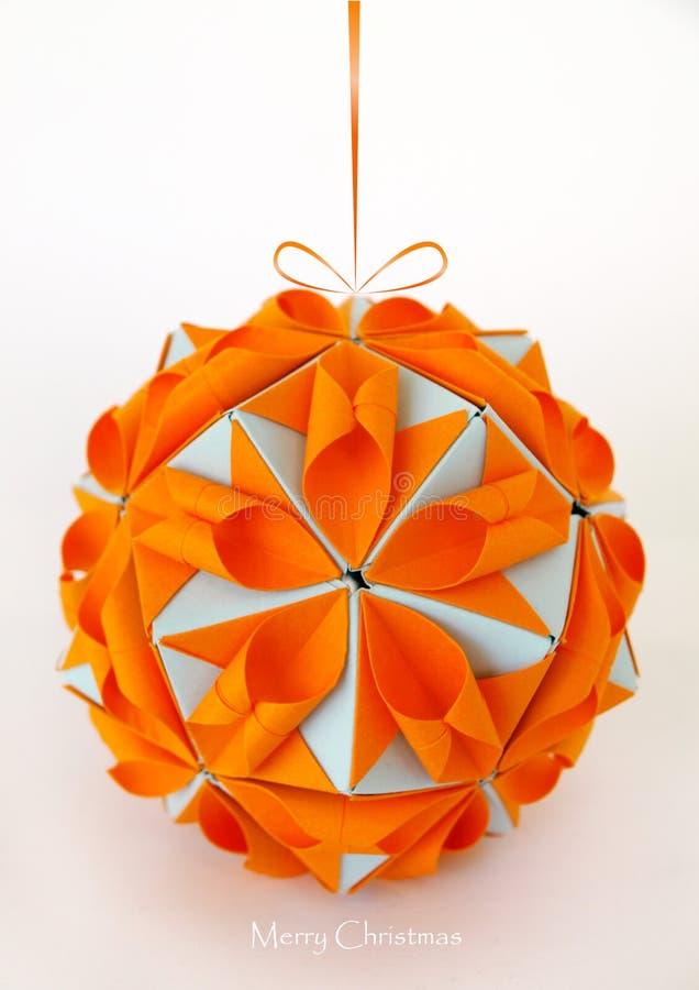 Download Origami ornament stock image. Image of season, orange - 17166477